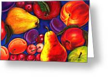 Fruit Tumble Greeting Card