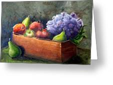 Fruit With Hydrangea Greeting Card