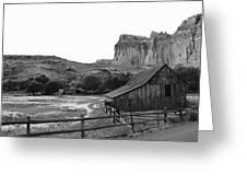 Fruita Farm In Black And White Greeting Card
