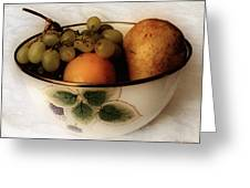 Fruitbowl Retro Greeting Card