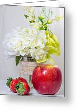 Fruits And Flowers Greeting Card