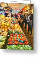 Fruits And Vegetables - Pike Place Market Greeting Card