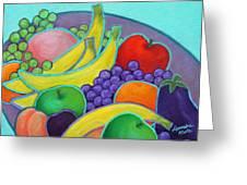 Fruity Banquet Greeting Card by Lorraine Klotz