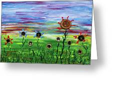 Fruity Flowerfield Greeting Card
