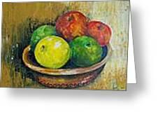 Frutas Greeting Card