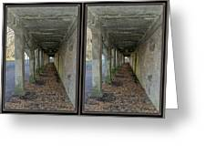 Ft. Howard Pk- Tunnel Effect - 3d Stereo X-view Greeting Card