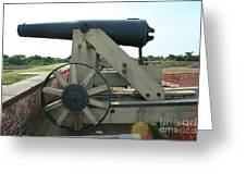 Ft Morgan Nc Cannon Greeting Card