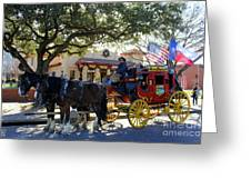 Ft Worth Stockyards Stagecoach  Greeting Card