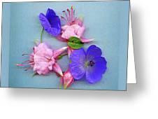 Fuchsia And Cranesbill Greeting Card