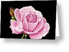 Fuchsia Rose Greeting Card