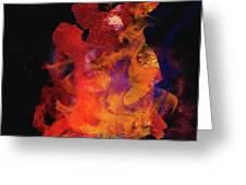 Fuego Greeting Card by M Montoya Alicea