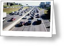 Fujifilm Instax Instant-film Picture Of Ih-35 Rush Hour Traffic  Greeting Card