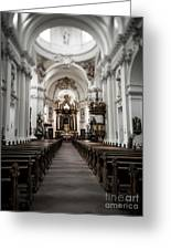 Fulda Cathedral Inside Greeting Card