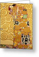Fulfilment Stoclet Frieze Greeting Card by Gustav Klimt