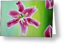 Full Bloom Greeting Card by Missy Yake