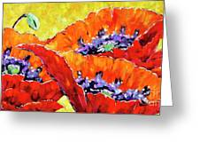 Full Bloom Poppies By Prankearts Fine Art Greeting Card