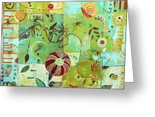 Full Crazy Quilt Greeting Card