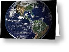 Full Earth Showing North And South Greeting Card