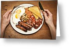 Full English Breakfast Greeting Card