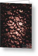 Full Frame Background Of Chocolate Chips Greeting Card