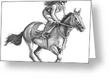 Full Gallop Greeting Card