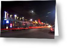 Full Moon And Night Clubs Greeting Card