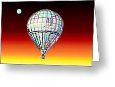 Full Moon Balloon Greeting Card