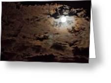 Full Moon Cloudy Night Greeting Card