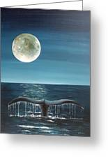 Full Moon Fluke Greeting Card