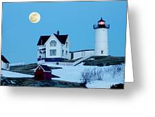 Full Moon Nubble Greeting Card