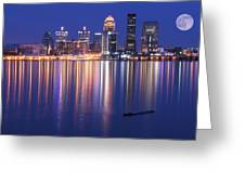 Full Moon Over Louisville Greeting Card