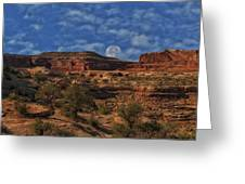 Full Moon Over Red Cliffs Greeting Card