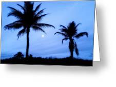 Full Moon Sunrise Greeting Card