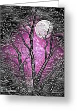 Full Moon Watching Greeting Card