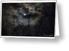 Full Moon With Clouds Greeting Card