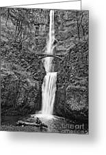 Full View Of Multnomah Falls Greeting Card