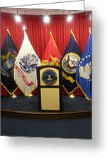Full View Swearing In Flags Greeting Card