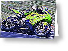 Fullspeed On Two Wheels 8 Greeting Card