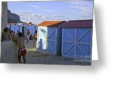Fun At Mondello Beach Greeting Card