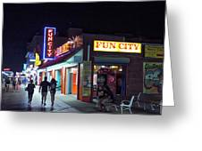 Fun City On The Boards Greeting Card