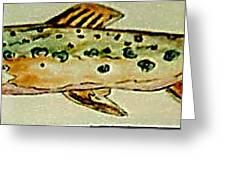 Fun Fish Greeting Card by Sandra Maddox