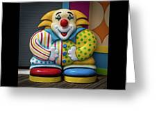 Fun House Clown Point Pleasant Nj Boardwalk Greeting Card