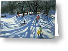 Fun In The Snow Greeting Card