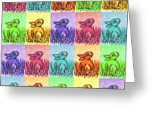 Fun Spring Bunnies Greeting Card