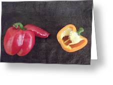 Fun With Vegetables Greeting Card