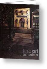 Funeral Home At Night Greeting Card