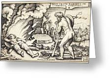 Funeral Of Hercules Greeting Card