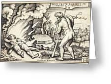 Funeral Of Hercules Greeting Card