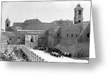 Funeral Procession In Bethlehem During 1934 Greeting Card