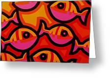 Funky Fish Iv Greeting Card